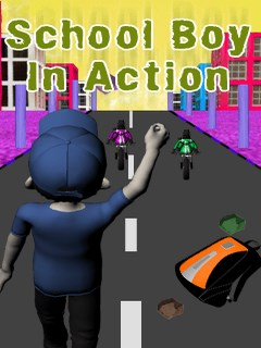 School Boy In Action Mobile Game