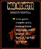 War Monster Mobile Game