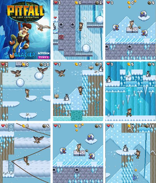 Pitfall Glacier Mobile Game