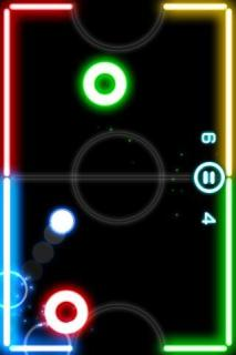 Glow Hockey Free Android Phones V1.2.12 Mobile Game
