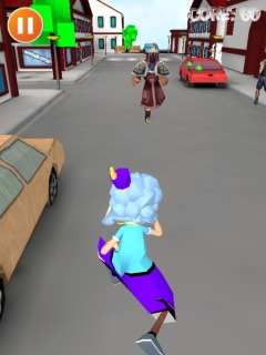 Crazy Grandma Run Vs Gangsters For Android Phones V1.0 Mobile Game