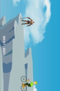 Hit And Fly Cyclist Mobile Game