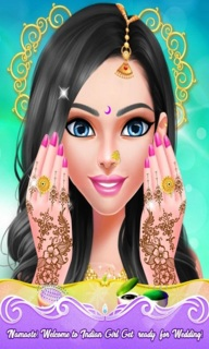Indian Doll Bride Wedding Girl Makeup And Dressup Mobile Game