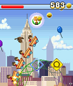 Rollercoaster rush 99 tracks java game for mobile. Rollercoaster.