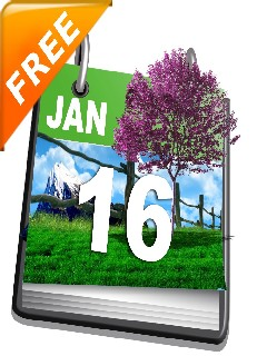 Nature Calendar 128x160 Mobile Game