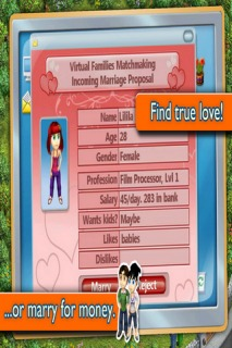 Virtual Families Mobile Game