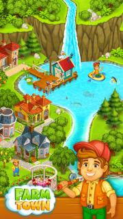 Farm Town Happy Village Near Small City And Town Mobile Game