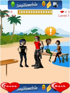 Beach Kissing For Touch Mobile Game