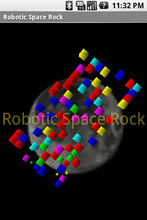 Robotic Space Rock Mobile Game