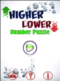 Higher Lower Number Puzzle Mobile Game
