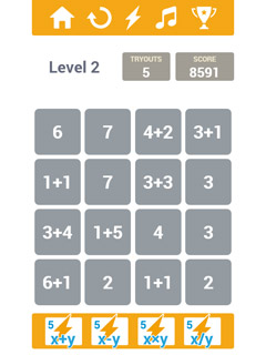 Calculate The Squares Mobile Game