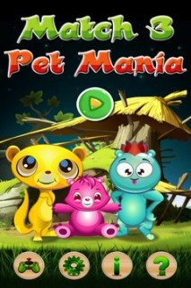 Match 3 Pet Mania Mobile Game