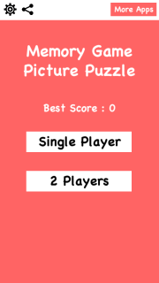 Memory Game Picture Puzzle Mobile Game