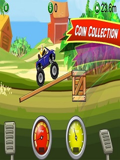 Monster Truck Hill Stunt 3D Mobile Game