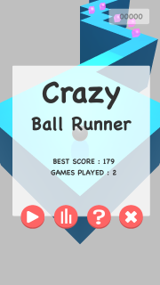 Crazy Ball Runner Mobile Game