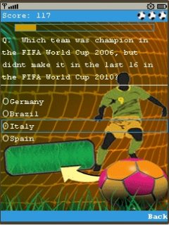 Football Quiz 240X320 Touch Mobile Game