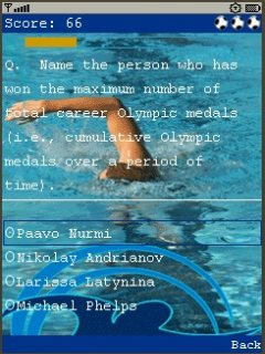Olympque Quiz 240X320 Touch Mobile Game