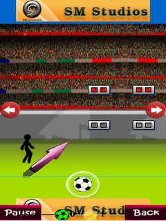 Kicking Football Below 240X320 Mobile Game