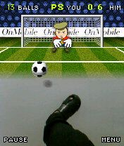 Kick A Ball Mobile Game