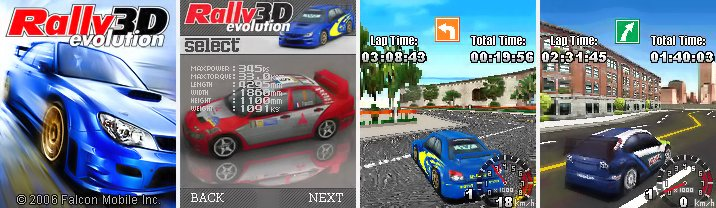 3D Rally Evolution Mobile Game