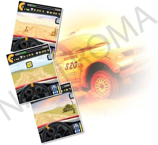 American Rally 240x320 Mobile Game