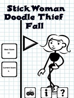 StickWoman Doodle Thief Fall Mobile Game