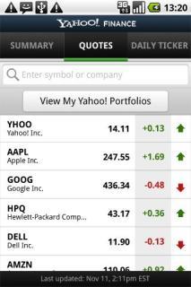 Yahoo! Finance 1.1.7 Mobile Software