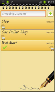 Shopping List For Java Phones V1.0.11 Mobile Software