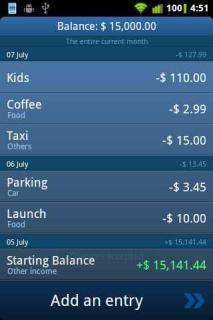 Expenses For Symbain Phones V 1.4.6 Mobile Software