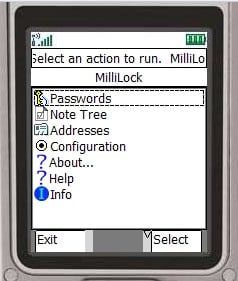 MilliLock 2.1 Mobile Software