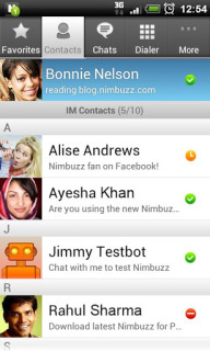 Nimbuzz Messenger Android Phones V 2.4.1 Mobile Software