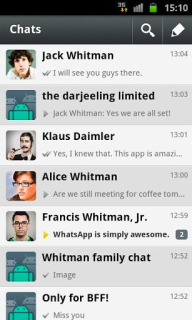 WhatsApp Messenger For Android Phones Free V 2.11.23 Mobile Software