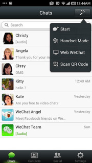 WeChat Free For Android Phones V4.5.1 Mobile Software