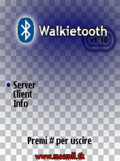 Walkietooth For Symbian Phones V1.10 Mobile Software