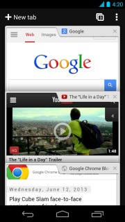 Chrome Browser - Google For Android Phones V 31.0.1650.59 Mobile Software