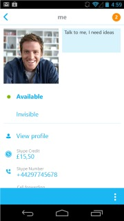 Skype - Free IM And Video Calls Android Phones V 4.5.0.39600 Mobile Software