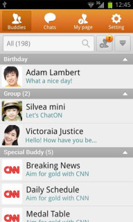 ChatON For Android Phones V 2.7.103 Mobile Software