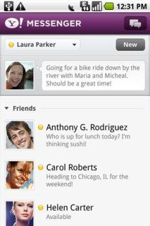 Yahoo Messenger For Android Phones V 1.8.6 Mobile Software