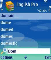 English Pro Dictionary Mobile Software