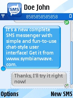 Sms Chat For Symbian Phones V1.5 Mobile Software
