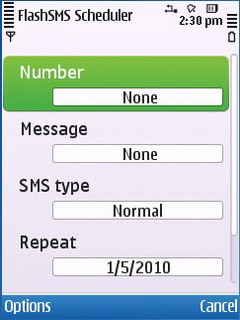 Flash SMS Scheduler For Symbian Phones V1.152 Mobile Software