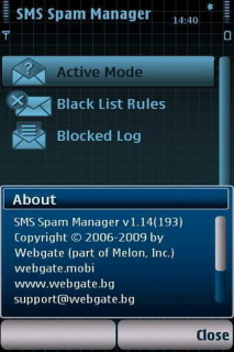 Sms Spam Manager For Symbian Phones V 1.15 Mobile Software