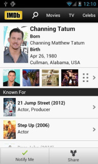 IMDb Movies And TV For Android Phones V3.3.2.103320110 Mobile Software
