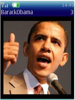 Barack Obama Mobile For Java Phones V 1.5.0 Mobile Software