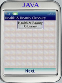 Health & Beauty Glossary For Java Phones V 1.0 Mobile Software