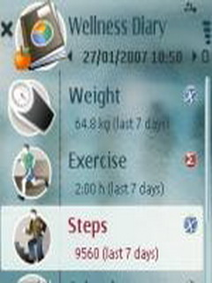 Wellness Diary For Symbian Phones V 1.25 Mobile Software