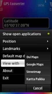 GPS Coordinate Converter  V1.0 Mobile Software