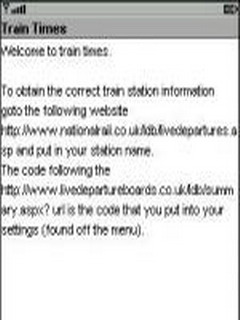 Live UK Train Times 0.3.27 Mobile Software