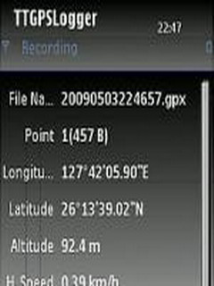 TTGPSLogger For Symbian Phones V 0.4 Mobile Software