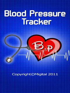 Blood Pressure Tracker Touch Mobile Software